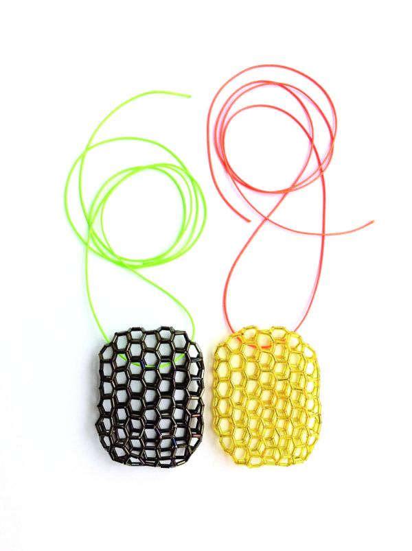 2x pendant - glas - nylon - 2015