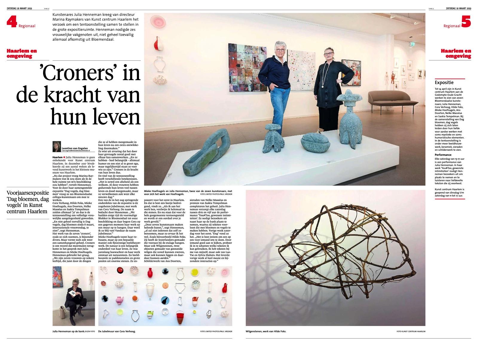 Haarlems dagblad 16 maart 2019